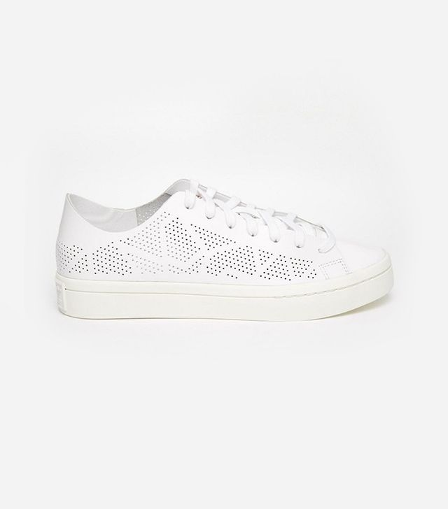 Adidas Originals Court Vantage White Perforated Sneakers