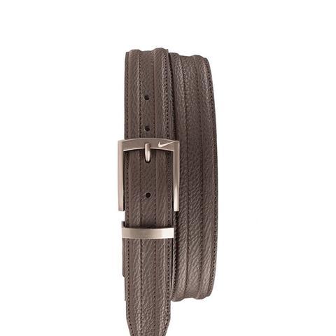 Trapunto Leather Belt