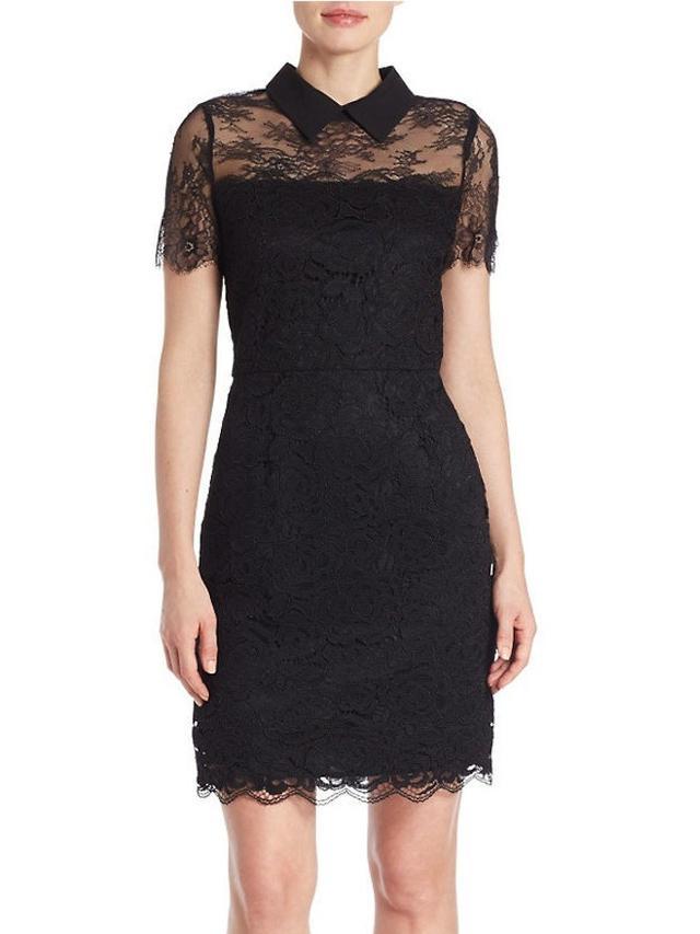 Karl Lagerfeld Paris Lace Collar Dress