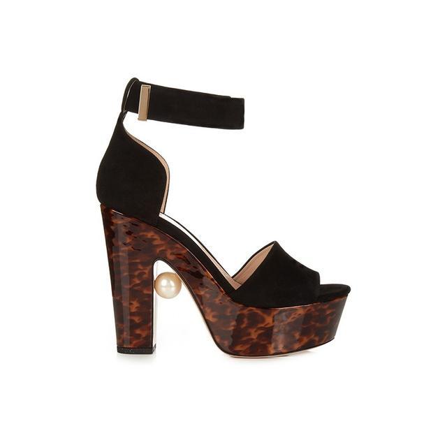Nicholas Kirkwood Maya Pearl-Embellished Block Heel Sandals