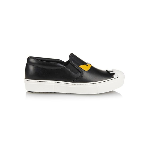 Fendi Fashion Show Leather Low-Top Trainers
