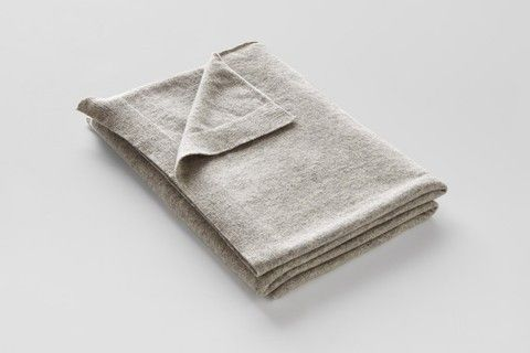In Bed Store Cashmere Throw Rug in Grey
