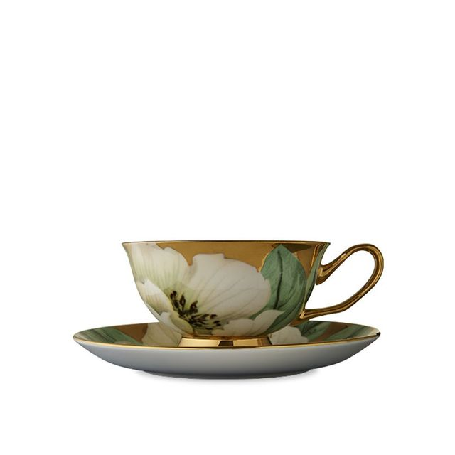 T2 White Luscious Teacup and Saucer