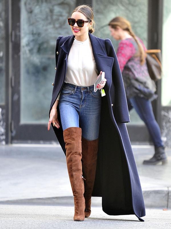 Olivia Culpo fashion style: Giuseppe Zanotti boots