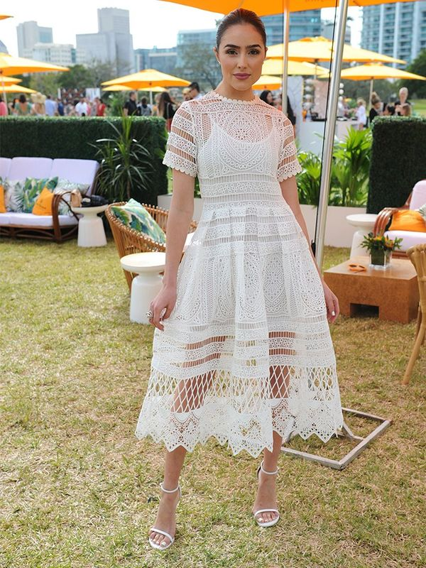 Olivia Culpo fashion style: Alexis dress