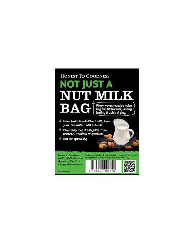 Honest To Goodness Nut Milk Bag