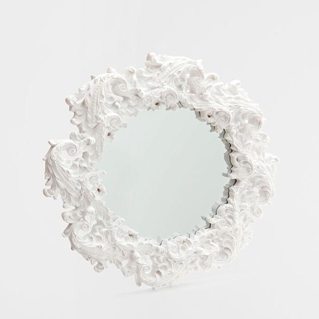 Zara Home Round White Resin Mirror
