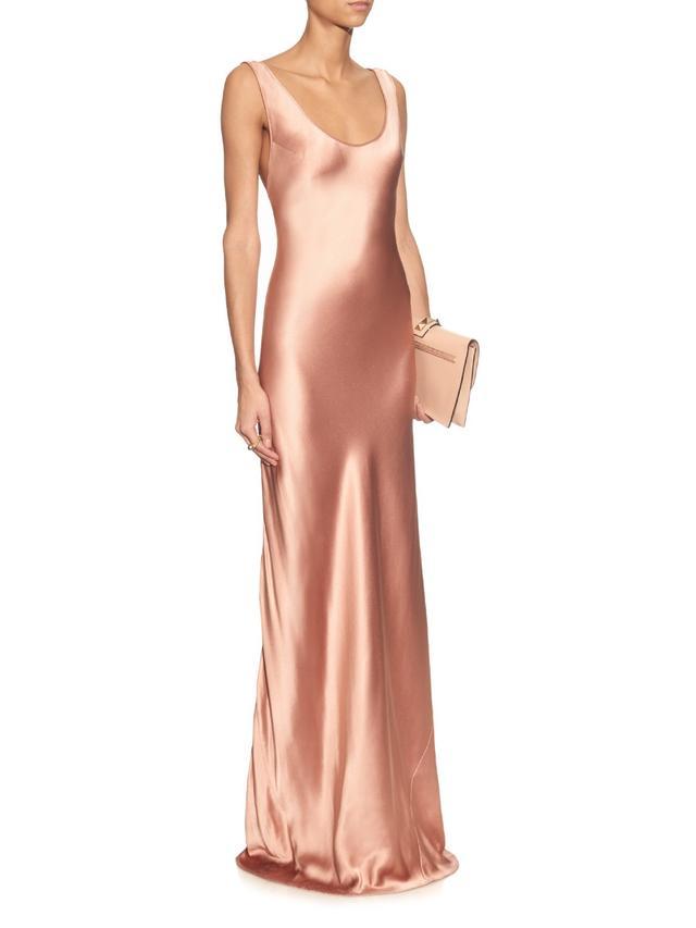 Galvan Bias-Cut Silk Gown