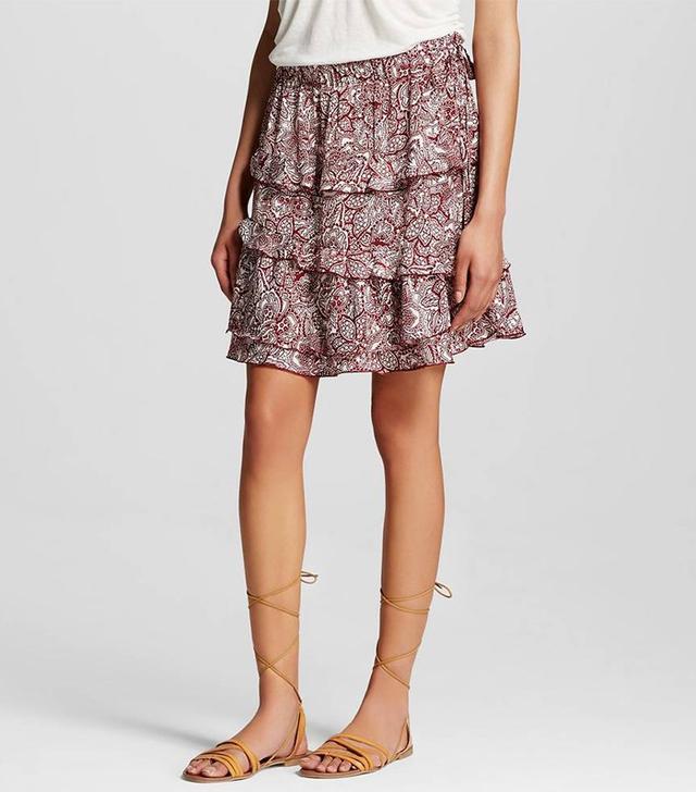 Who What Wear Layered Ruffle Skirt