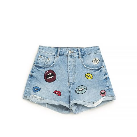 Mom Shorts With Patches