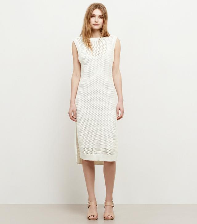 Kenneth Cole Open-Knit Sweater Dress