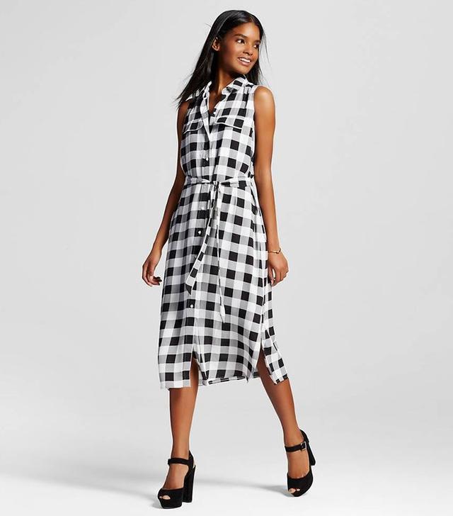 Who What Wear Sleeveless Midi Shirt Dress
