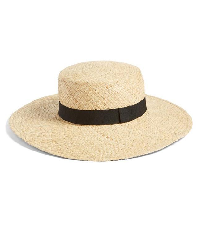 B.P. Wide Brim Raffia Boater Hat