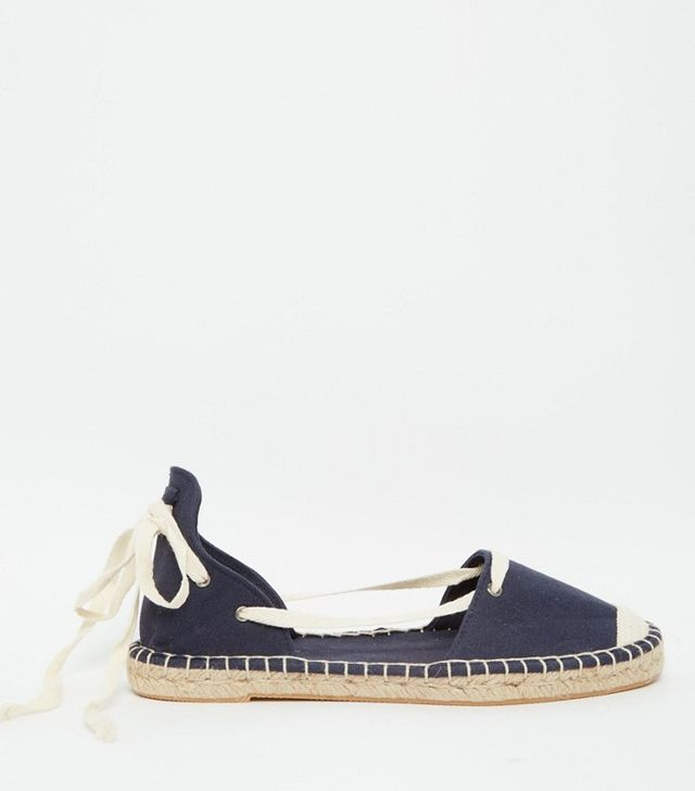 New Look Canvas Ankle Tie Espadrille