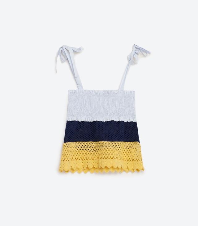 Zara Stretch Crochet Top