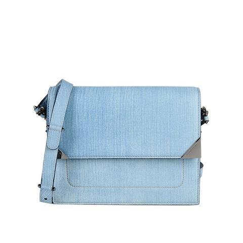Denim Printed Leather Madness Bag