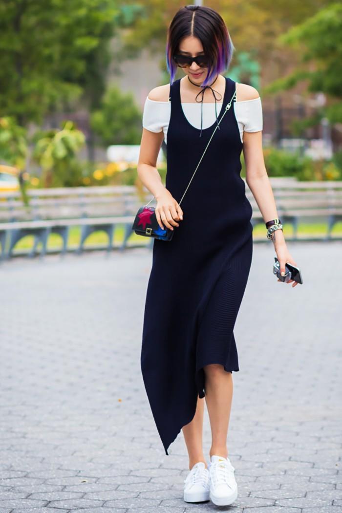minimalist summer style black dress