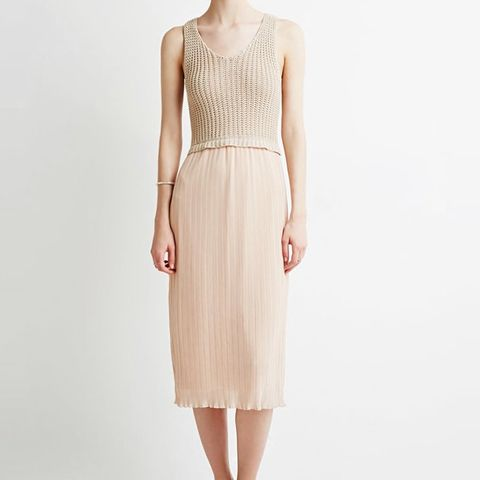 Contemporary Pleated Combo Dress