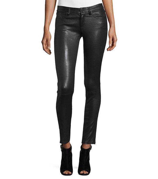 Alice + Olivia Angie 5-Pocket Leather Leggings