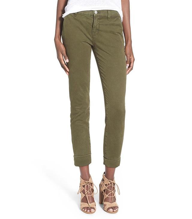 J Brand Josie Tapered Leg Crop Trousers