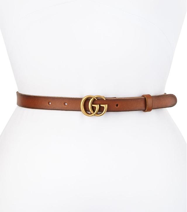 Gucci Thin GG Leather Belt
