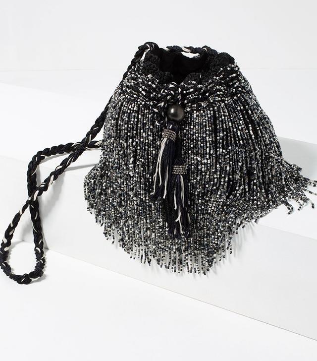 Zara Cross-Body Evening Bucket Bag