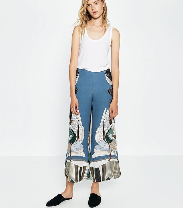 Zara Bird Print Trousers