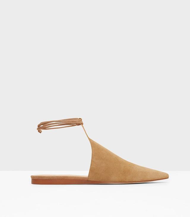 Mango Leather Slingback Shoes