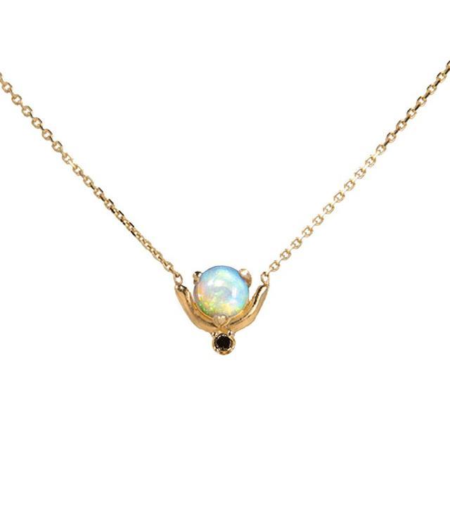 Wwake Nestled Opal and Diamond Necklace