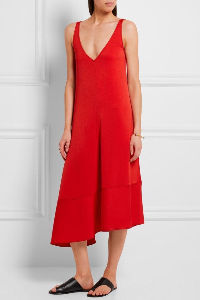 Joseph Bianca Asymmetric Crepe Midi Dress