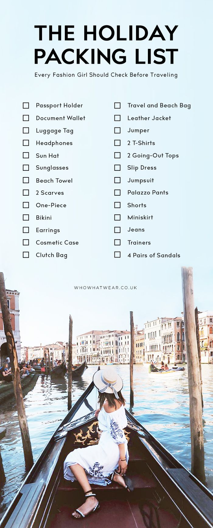 The Packing List Every Stylish Girl Should Check Who What Wear