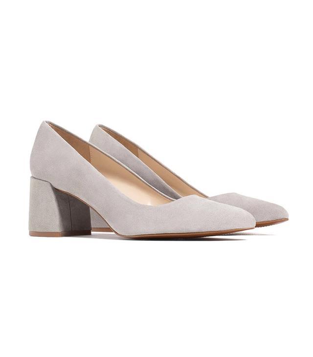 Zara Block Heel Leather Shoes