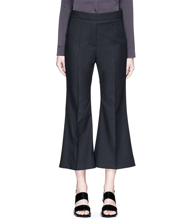 Ellery Bulgaria Cady Cropped Flare Pants