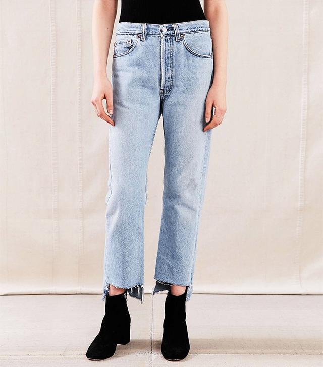 Urban Renewal Remade Uneven Hem Jeans