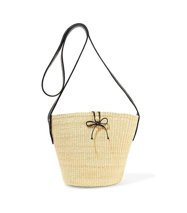 Sensi Studio Woven Toquilla Straw Shoulder Bag