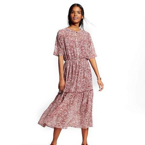 Women's Printed Midi Dress