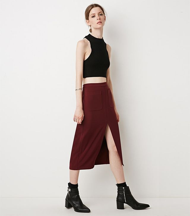 Forever 21 Contemporary Front Slit Pencil Skirt