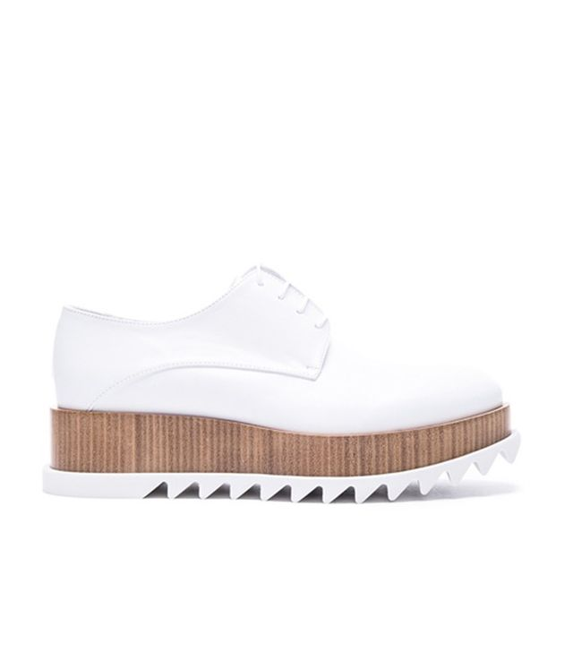 Jil Sander Leather Creepers in Bianco
