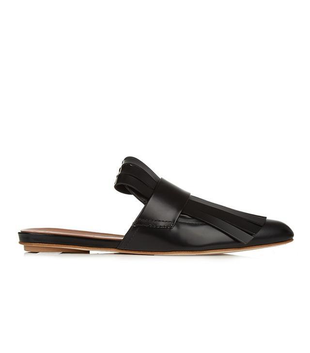 Marni Fringed Leather Slides