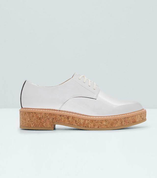 Mango Metallic Oxford Shoes
