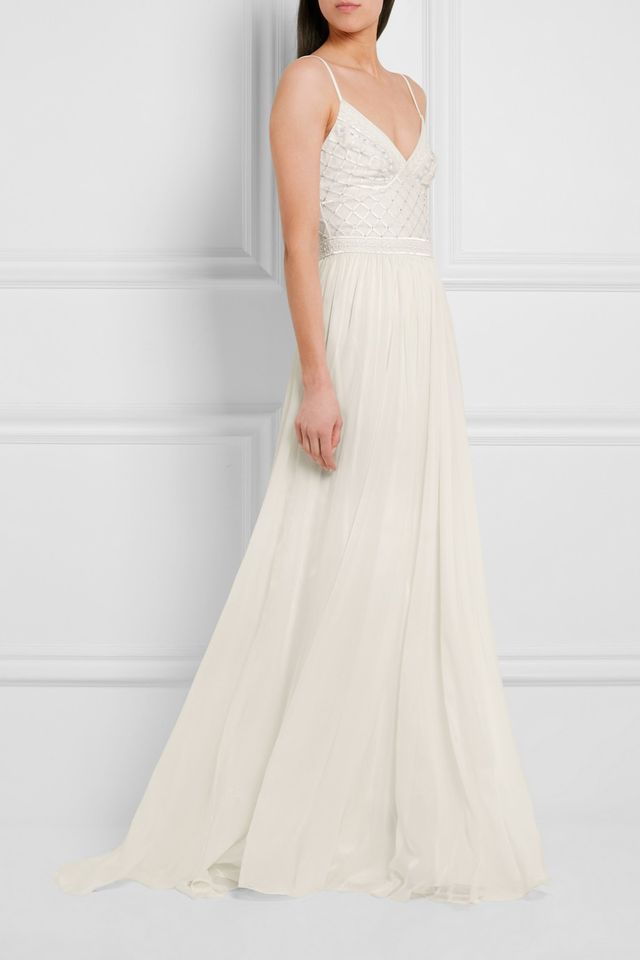 Temperley London Anastasia Embellished Tulle and Silk-Chiffon Gown