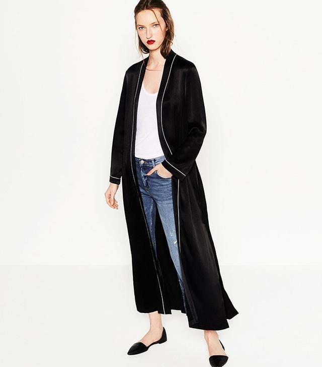 Zara Studio Pajama-Style Kimono