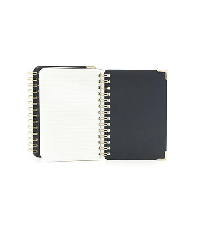 Kikkerland Double Sided Notebook Ruled + Plain