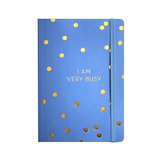 Papier D'Amour Busy Gold Foiled Notebook - Cornflower