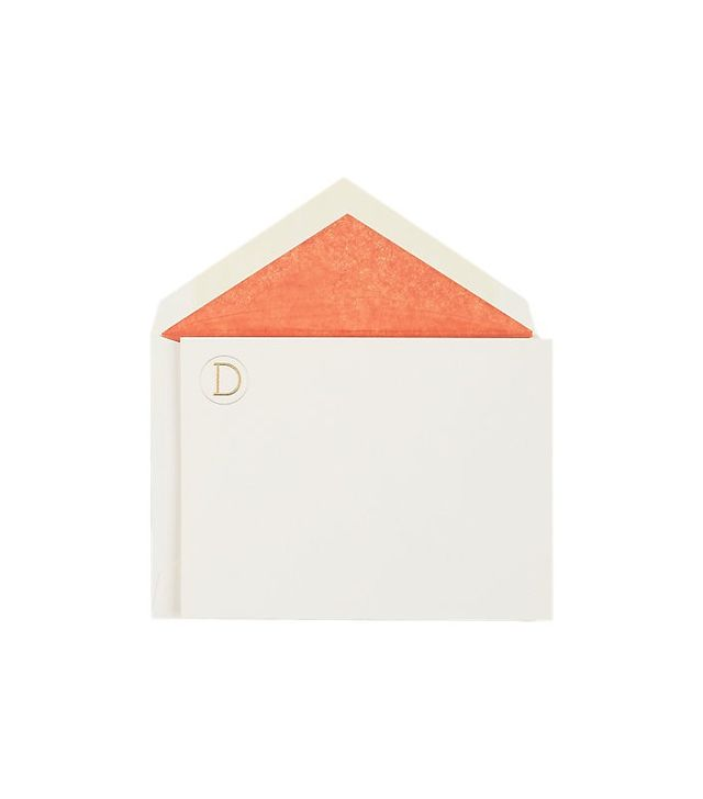 "Connor Monogram Letter ""D"" Stationary Set"