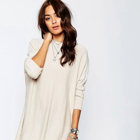 Tunic Dress With Crew Neck