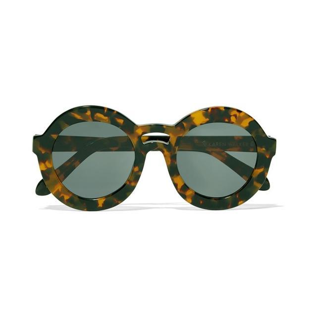 Karen Walker Round-Frame Acetate Sunglasses