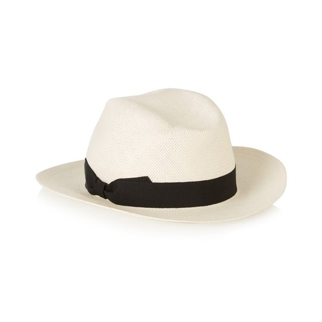 Iris & Ink Grosgrain-Trimmed Straw Panama Hat