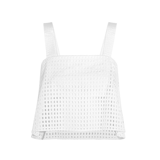 3.1 Phillip Lim Cropped Broderie Anglaise Cotton Top