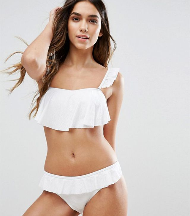 Vero Moda Ruffle Detail Cross Back Bikini Top (31) & Bottoms